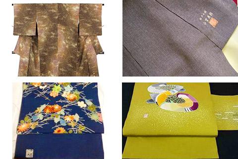 着物と帯の落款の位置