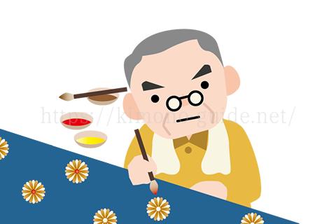 東京友禅の技法は手描きが基本