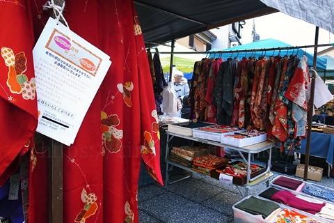 フリーマーケットに参加して着物を売る