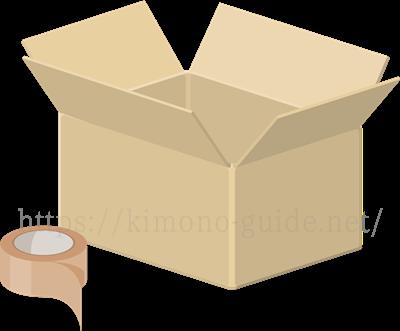 同封する書類と着物を梱包
