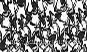 南部古代型染の紋「千羽千鳥」